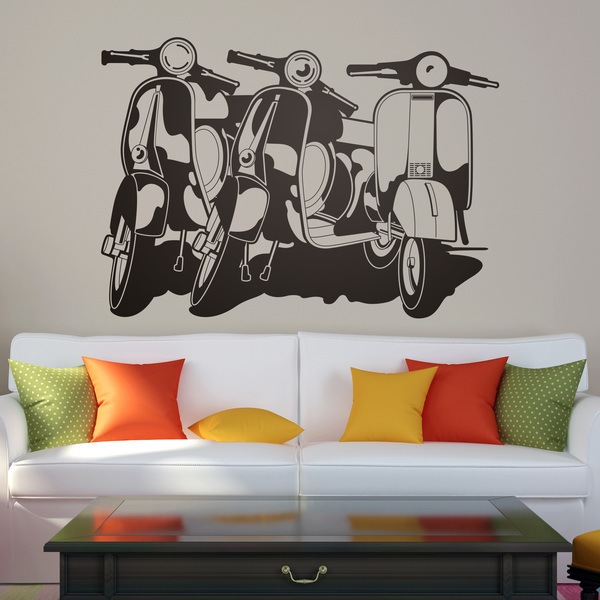 Wall Stickers: 3 Vespas