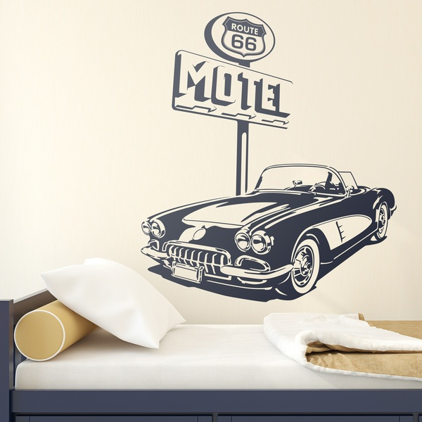 Wall Stickers: Chevrolet Corvette Route 66