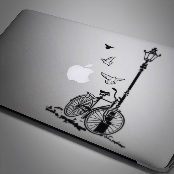 Car and Motorbike Stickers: Bicycle and Lamp
