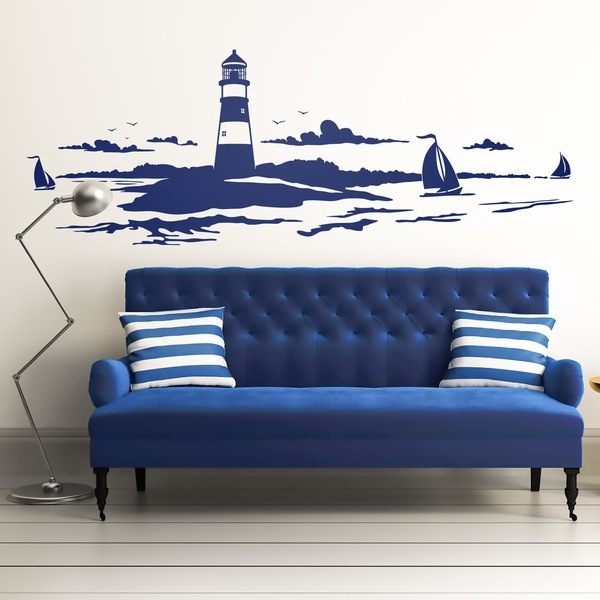 Wall Stickers: Lighthouse maritime