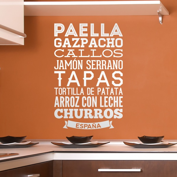 Wall Stickers: Gastronomy of Spain