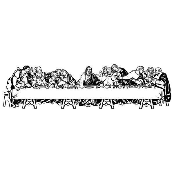 Great Wall Stickers: The Last Supper (Leonardo Da Vinci) Part 19