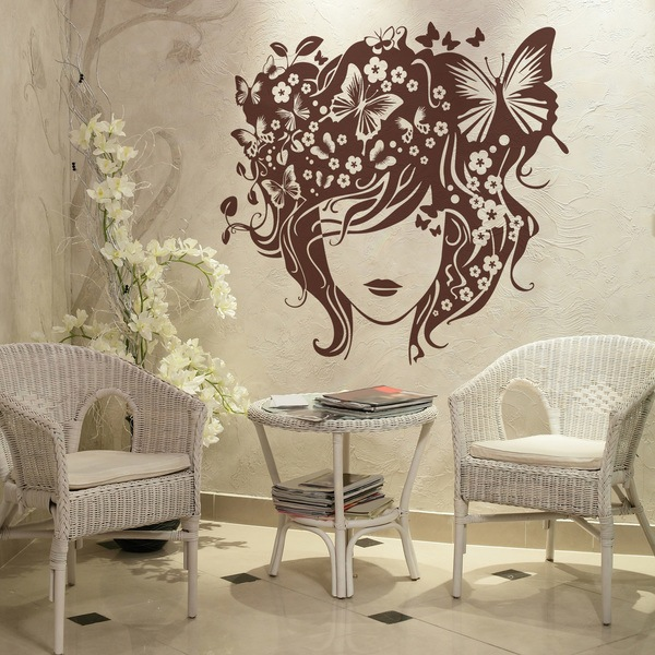 Wall Stickers: Butterfly hairstyle