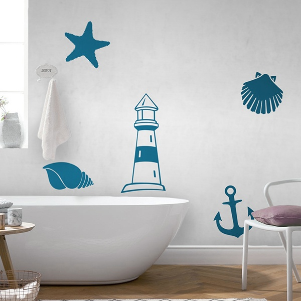 Wall Stickers: Marine symbols