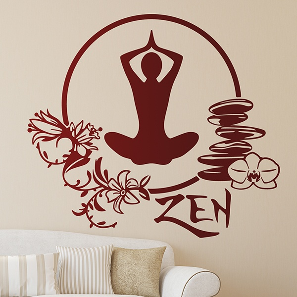 Wall Stickers: Meditation yoga exercise