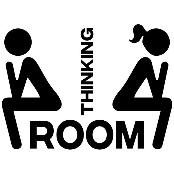 Wall Stickers: WC icons thinking