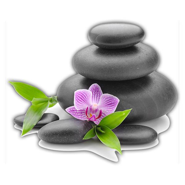 Wall Stickers: Stacked stones and Orchid