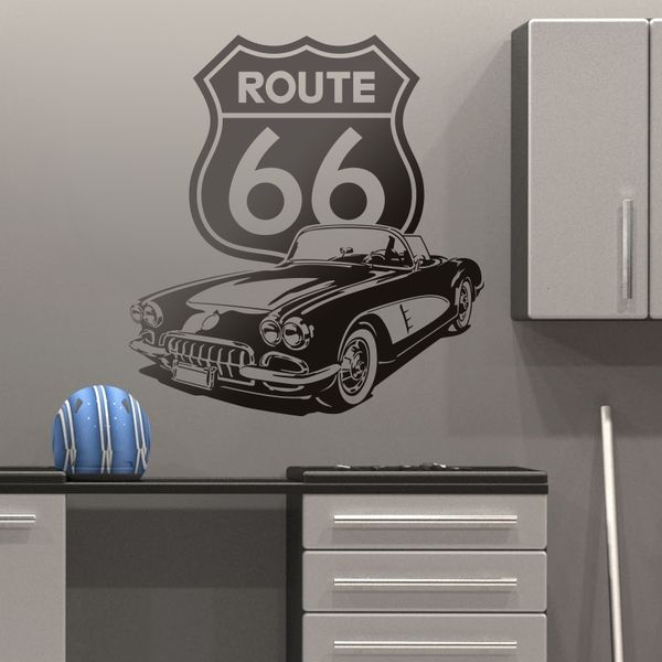 Wall Stickers: Corvette Route 66