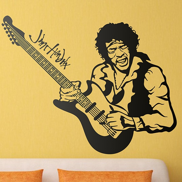 Wall Stickers: Jimi Hendrix in concert 0