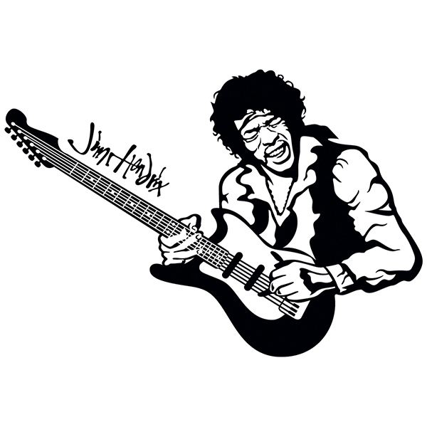 Wall Stickers: Jimi Hendrix in concert