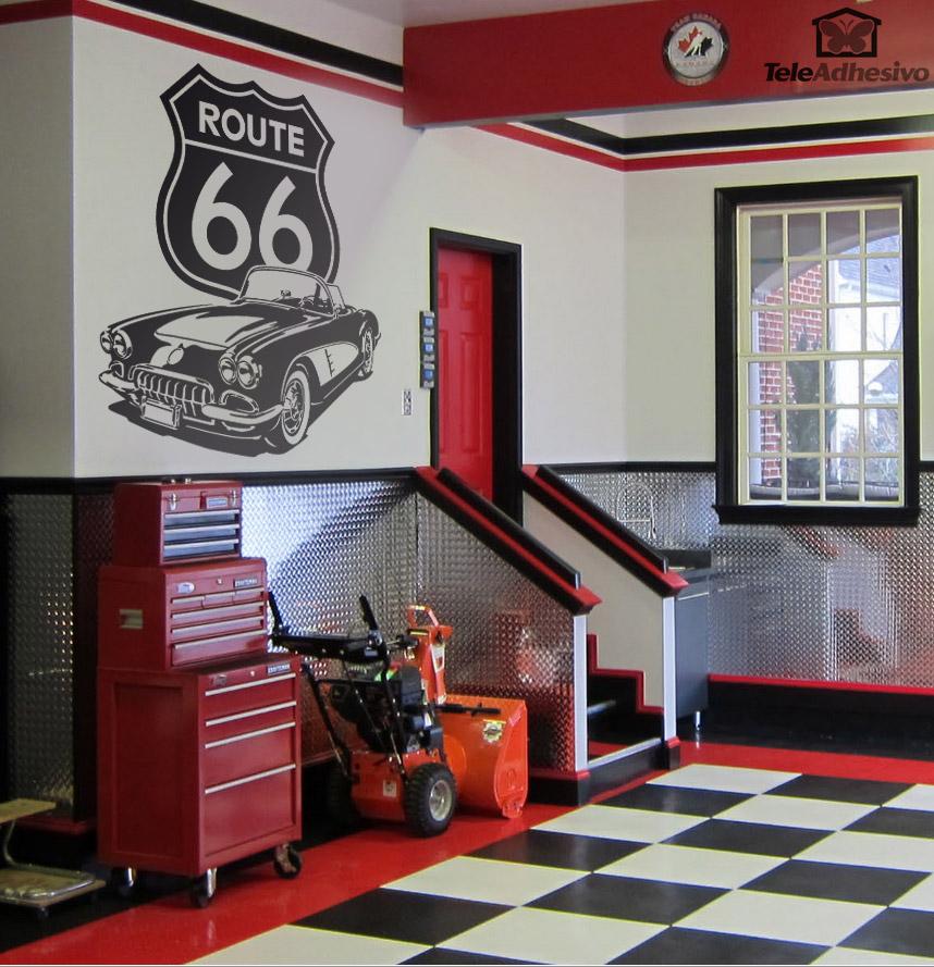Wall Stickers: Corvette Route 66