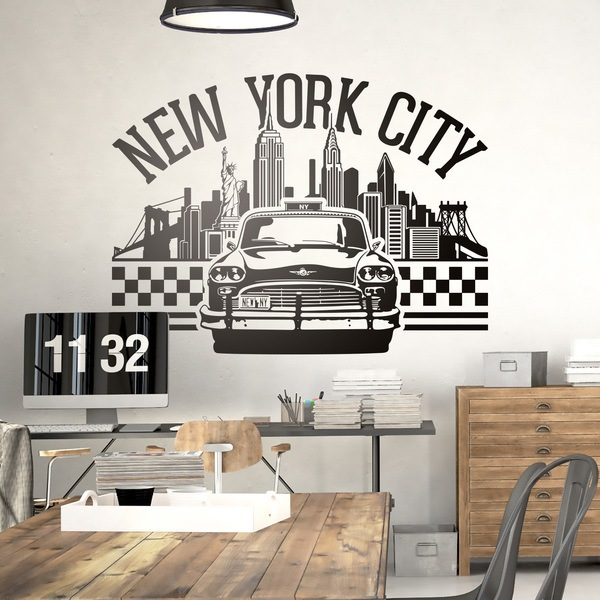 New york wall stickers for Stickers decorativos de pared