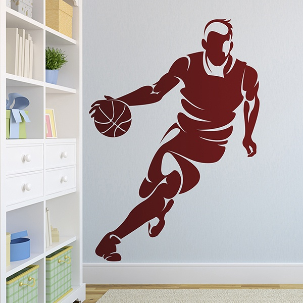 Wall Stickers: Basketball player dribbling 0