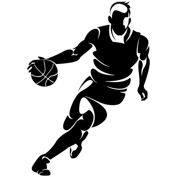 Wall Stickers: Basketball player dribbling