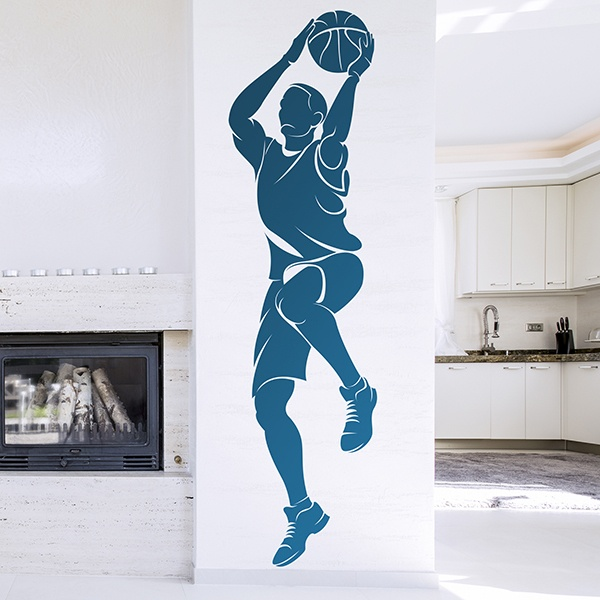 Wall Stickers: Basketball player shooting