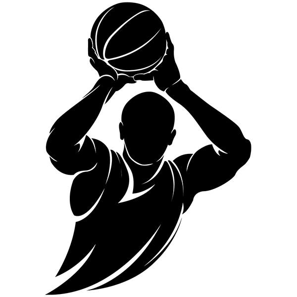 Wall Stickers: Basketball player free throw
