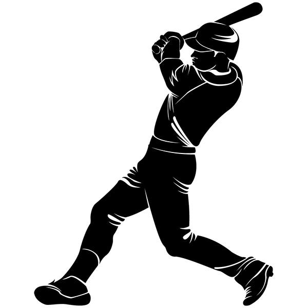 Wall Stickers:  baseball player batting