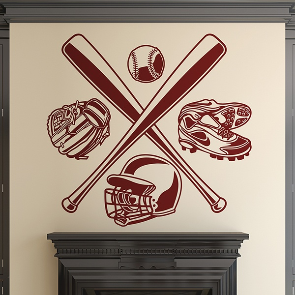 Wall Stickers: Baseball accessories