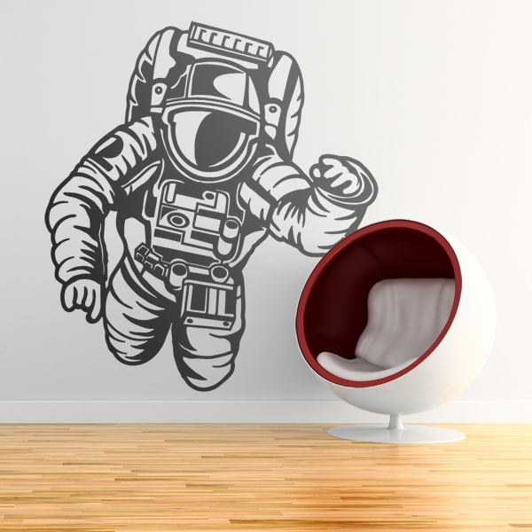 Stickers for Kids: Astronaut in the space