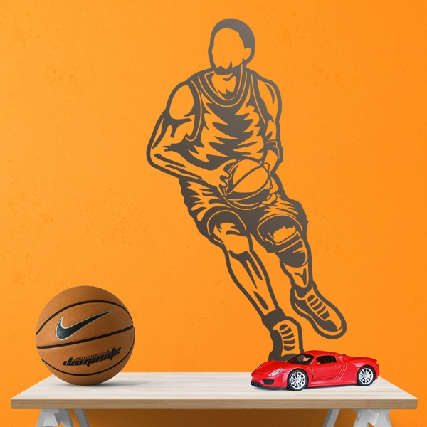 Wall Stickers: Basketball player protecting the ball