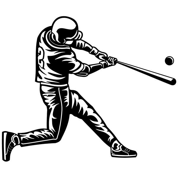 Wall Stickers: Baseball player hitting