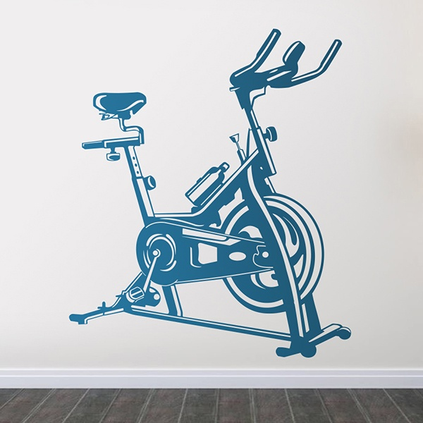 Wall Stickers: Exercise Bike Spinning