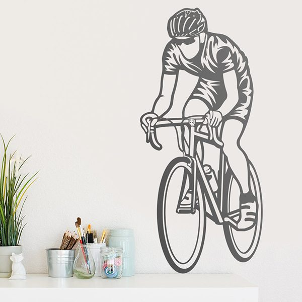 Wall Stickers: Cyclist sprinting