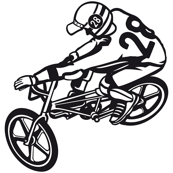 Wall Stickers: Bmx Freestyle