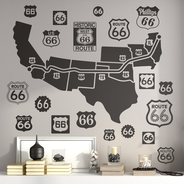 Wall Stickers: Route 66 Road Map