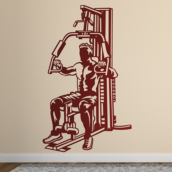 Wall Stickers: Machine chest gym