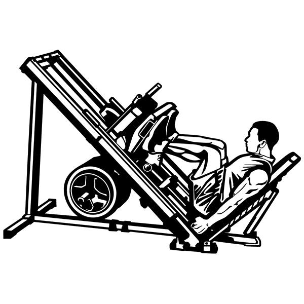 Wall Stickers: Incline leg press