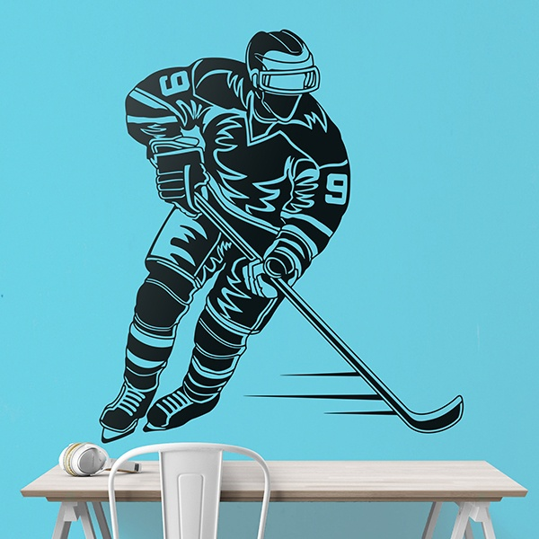 Wall Stickers: Hockey player