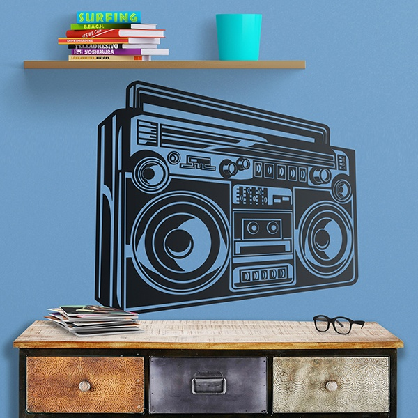 Wall Stickers: Classic HiFi system of music