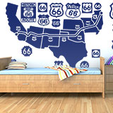 Wall Stickers: Map and logos Route 66 4