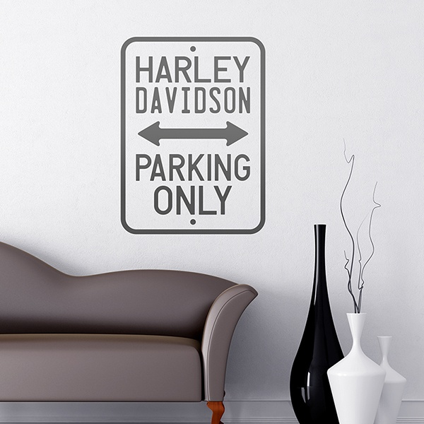 Wall Stickers: Harley Parking Only