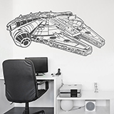 Wall Stickers: Millennium Falcon 3