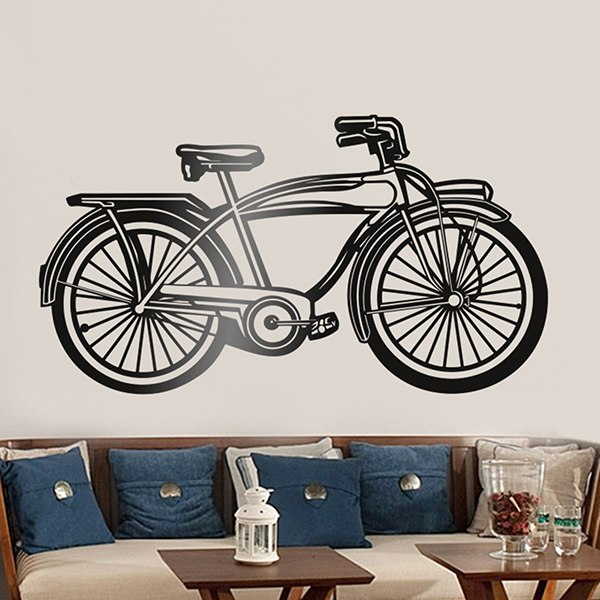 Wall Stickers: Old ride bike