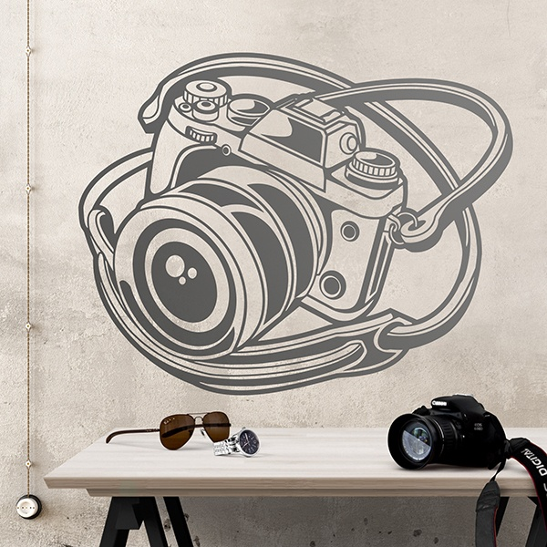 Wall Stickers: Vintage Reflex camera