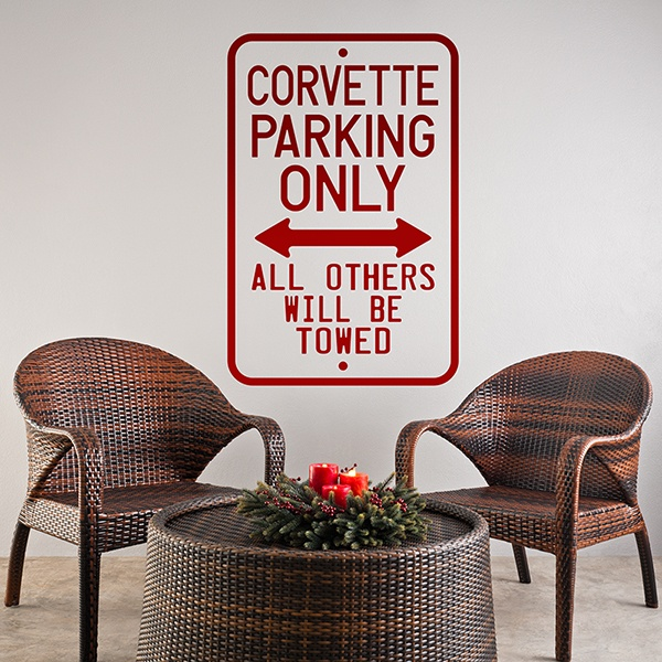 Wall Stickers: Corvette Parking Only
