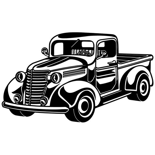 Wall Stickers: Van hotrod