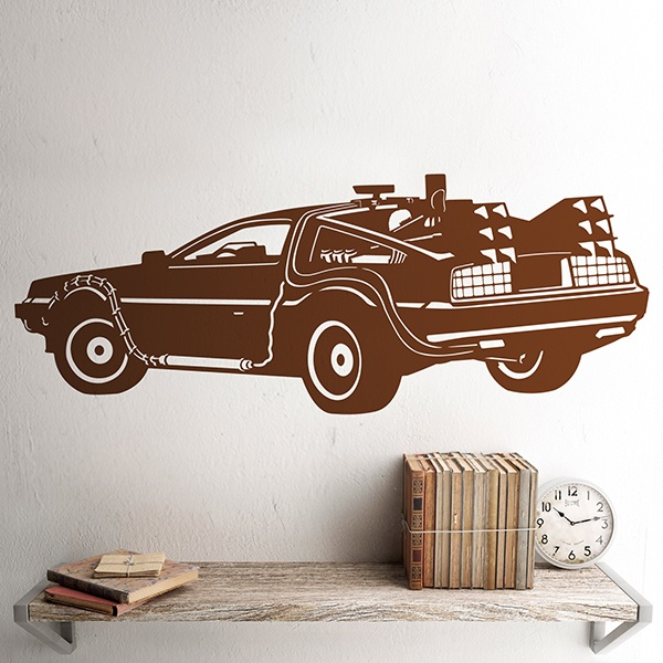 Wall Stickers: DeLorean, Back to the future