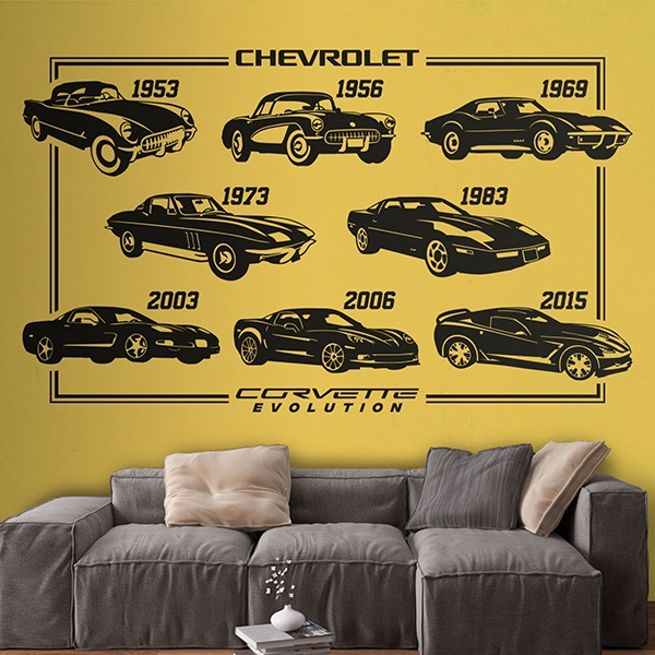 Wall Stickers: Evolution Chevrolet Corvette