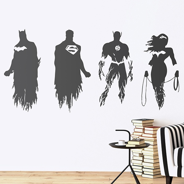 Wall Stickers: The Justice League