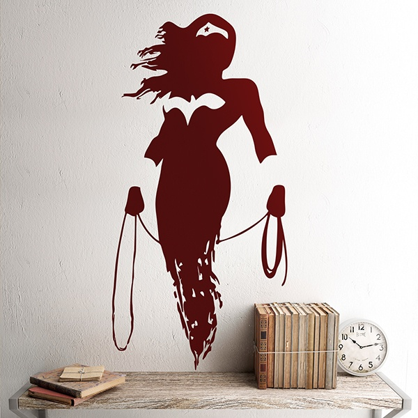 Wall Stickers: Wonder Woman silhouette
