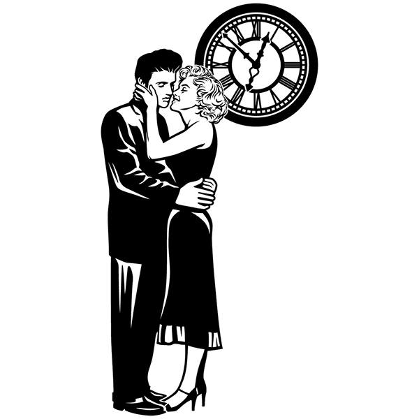 Wall Stickers: Elvis and Marilyn under the clock