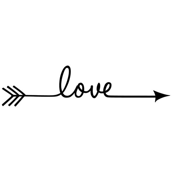 Wall Stickers: Arrow Love