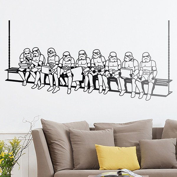 Wall Stickers: Stormtrooper lunch on a beam