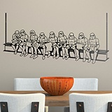 Wall Stickers: Stormtrooper lunch on a beam 2