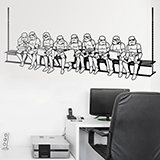 Wall Stickers: Stormtrooper lunch on a beam 3