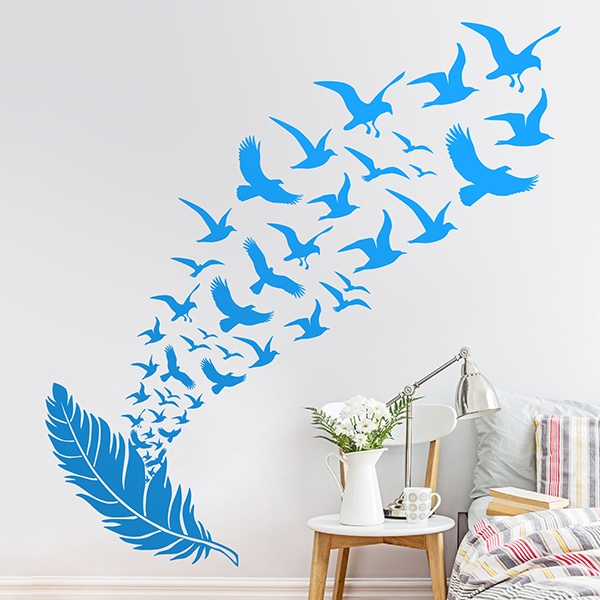 Wall Stickers: Flock of birds